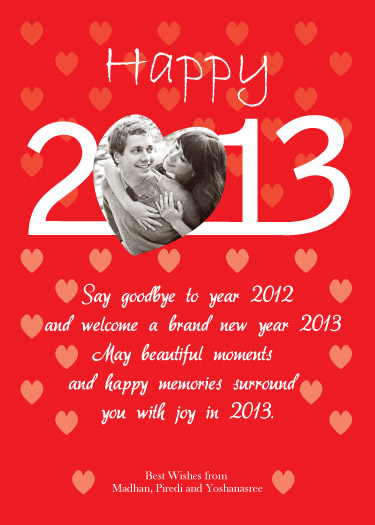 new year's cards - Heartily Wishes by Pirediba Parameswaran