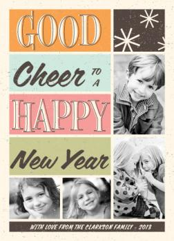 Retro Cheer New Year's Cards