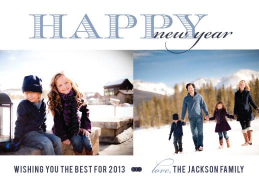 new year's cards - winter wonderland