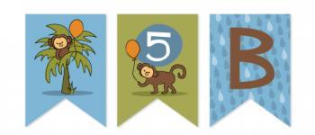 Jungle Monkey  Party Decor