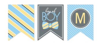 Bow Tie Boy Oh Boy Party Decor