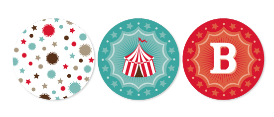 party decor - vintage cirque by Aspacia Kusulas
