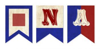 Vintage Nautical Flags Party Decor