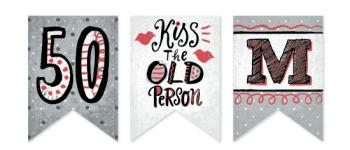 Kiss The Old Person Party Decor