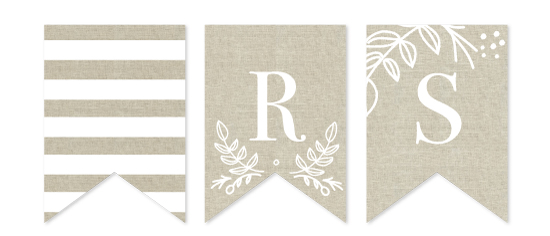 party decor - Natural Linen by Susan Brown