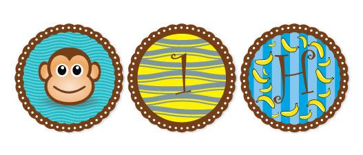 party decor - Monkey design Birthday by Pirediba Parameswaran