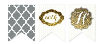 Sixty Sparkles Party Decor