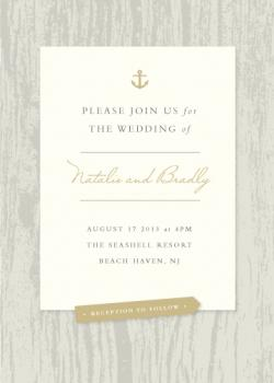 Driftwood and diamonds Wedding Invitations