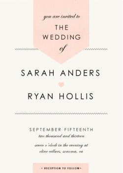 Linen stitch Wedding Invitations