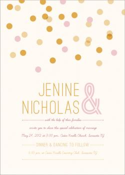 Blush & Gold Wedding Invitations