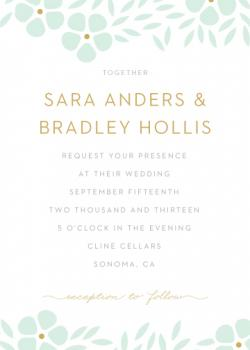 Graphic floral Wedding Invitations
