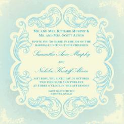 Blissfully Blue Wedding Invitations