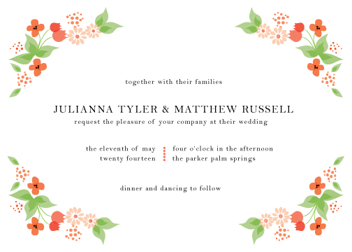wedding invitations - Delicate Blooms by Monica Schafer