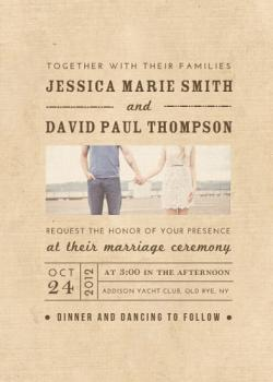 Textured Love Wedding Invitations