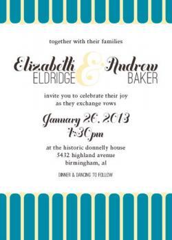 Turquoise & Buttermilk Wedding Invite