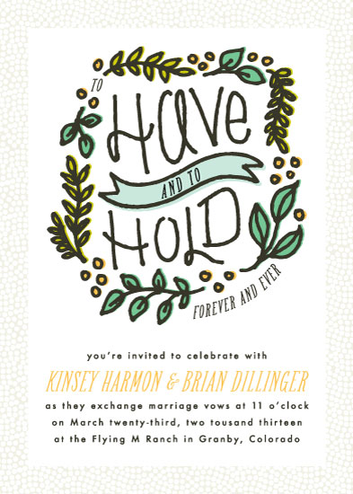 wedding invitations - Have & Hold by 2birdstone