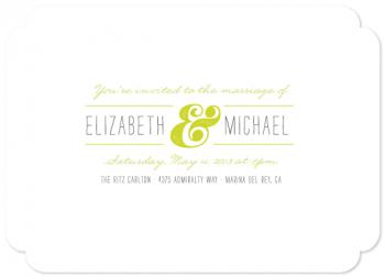 Bold Ampersand Wedding Invitations