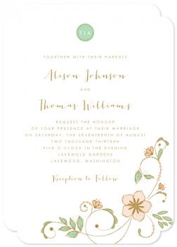 Blush Garden Wedding Invitations