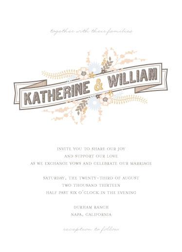wedding invitations - Alfresco Amore by Three Kisses Studio