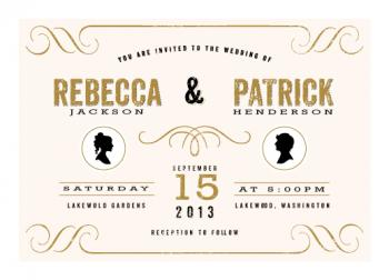 A Modern Statement Wedding Invitations