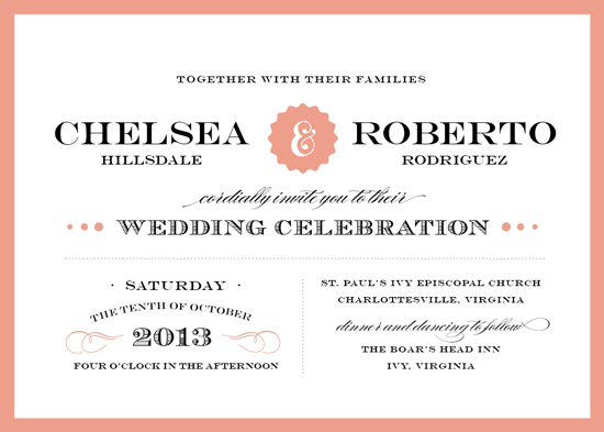 wedding invitations - Eloquence by Amanda Larsen Design