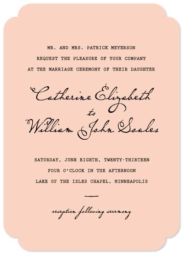 wedding invitations - Pretty Plain by Susan Brown