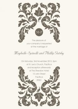 Gold Leaves Wedding Invitations
