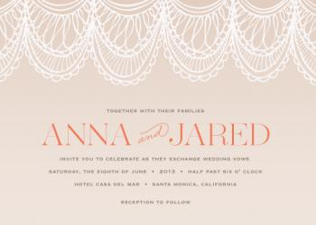 Mantilla Lace Wedding Invitations