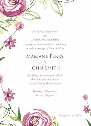 wedding invitations - Pink Peonies by Sabrina Medina