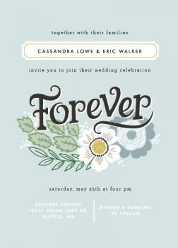 Forever Florals Wedding Invitations