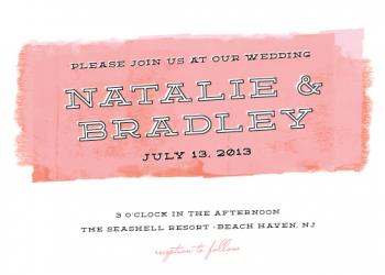 Paint roller Wedding Invitations