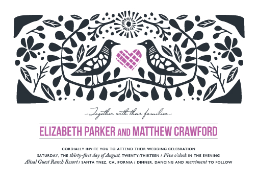 wedding invitations - Under the Bough by Griffinbell Paper Co.