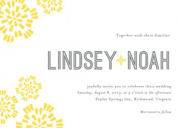 Sunny Day Wedding Invitations