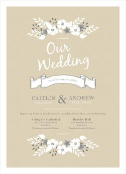 White Garden Wedding Invitations