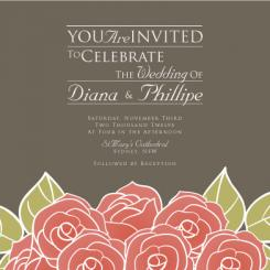 A Bunch of Roses Wedding Invitations