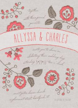 Blissful Ties Wedding Invitations