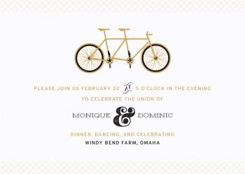 Bicycle Built for Two Wedding Invitations