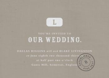 Vintage mill Wedding Invitations