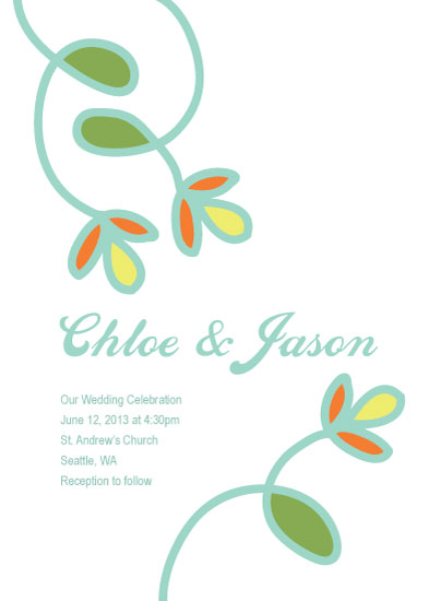 wedding invitations - Stained Glass Floral by Jenn Johnson