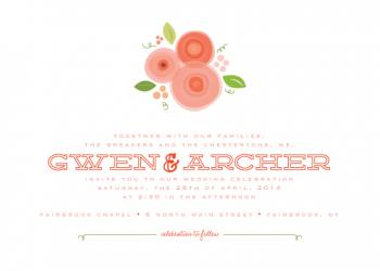 fresh bunch Wedding Invitations