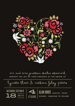 Deep in the Heart Wedding Invitations