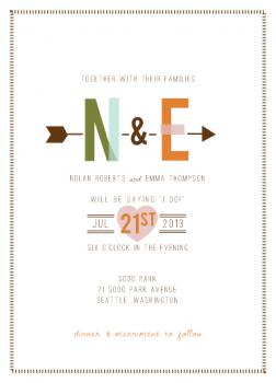 oh, so happy (together) Wedding Invitations