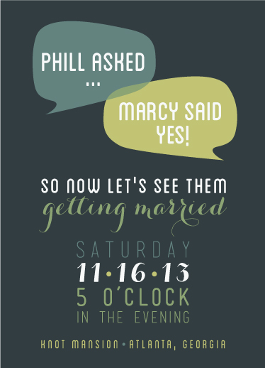 wedding invitations - Talking Couple by Sara C.