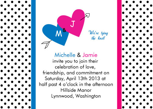 wedding invitations - Lovely Polka Dots  by Pirediba Parameswaran