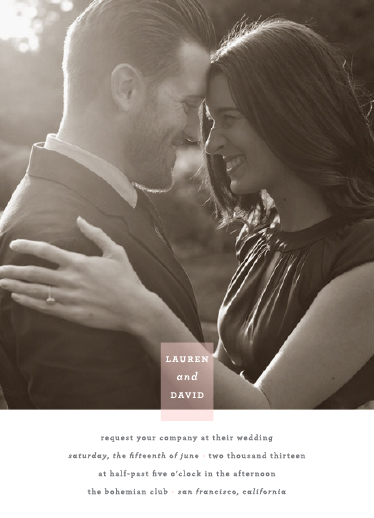 wedding invitations - Photo Tag Love by Vellum and Vogue