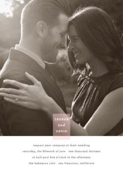 Photo Tag Love Wedding Invitations