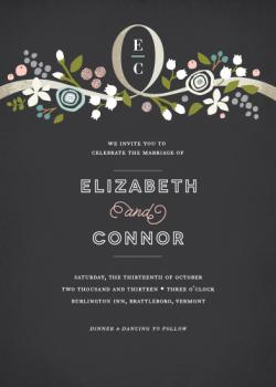 Night Lily Wedding Invitations
