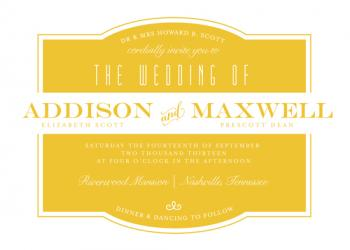 limoncello Wedding Invitations