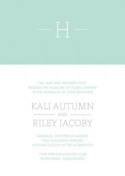 Colorblock Initial Wedding Invitations