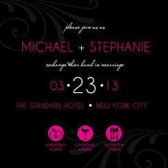 Simple and Chic Wedding Invitation